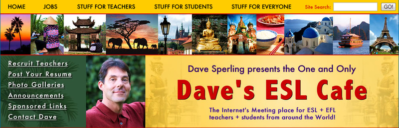 Daves ESL Cafe website hoc tieng anh online tai nha