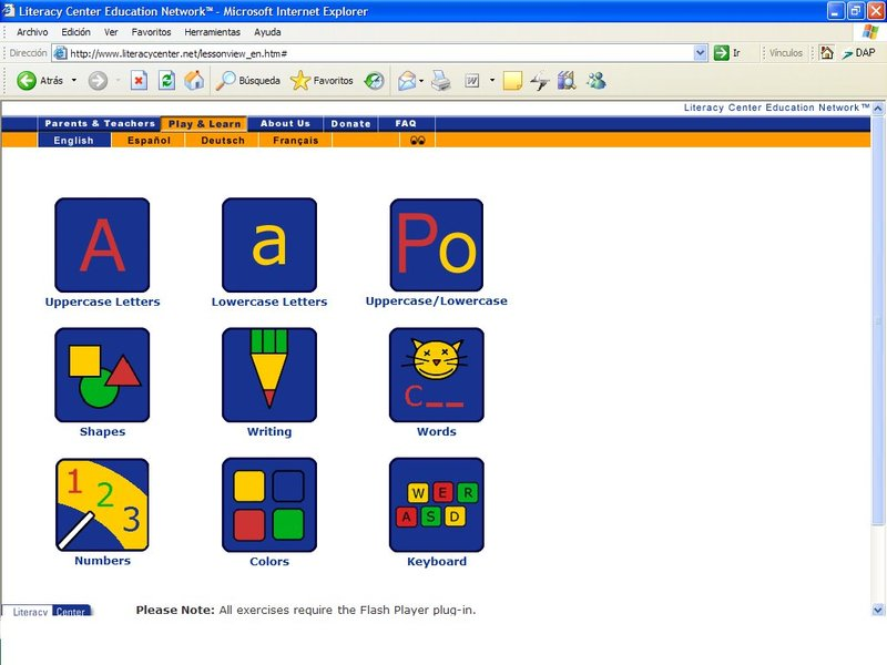 website hoc tieng anh mien phi literacy center