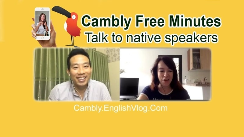 cambly free minute luyen noi tieng anh