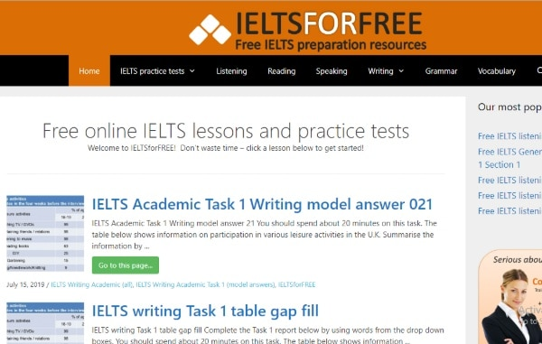 IELTS For Free