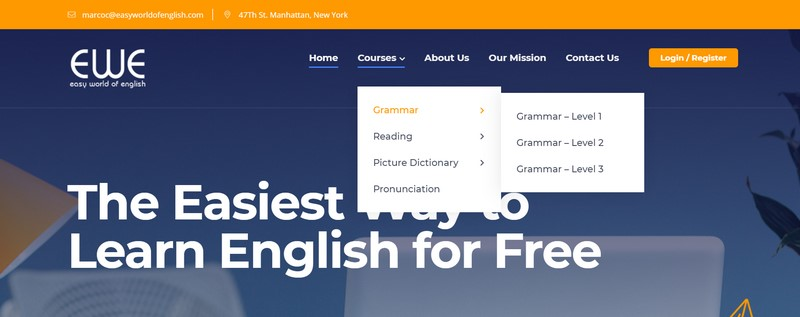luyện tiếng anh online qua website Easy World of English